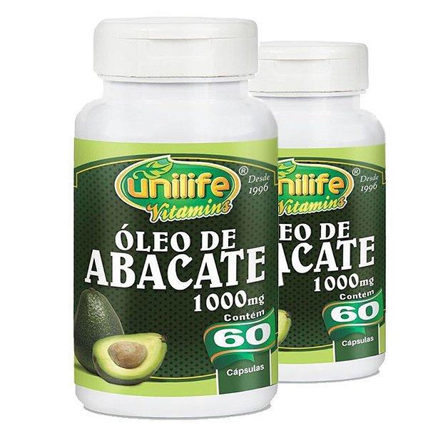 Kit com 2 Óleo de abacate 60 cápsulas Unilife