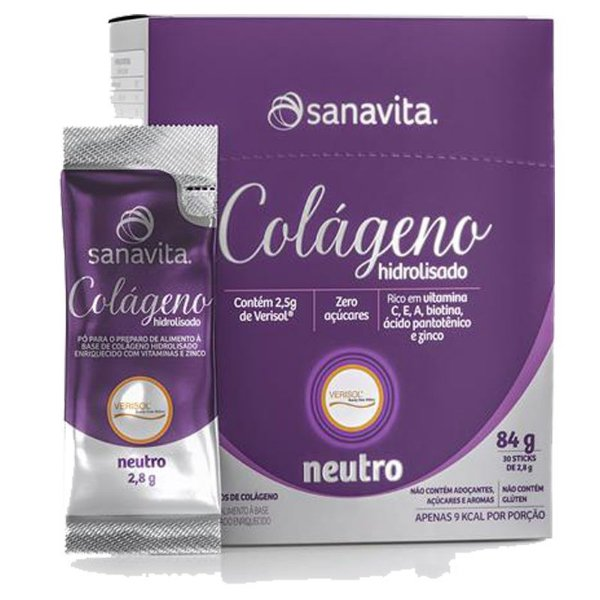 Colágeno hidrolisado VERISOL em 30 sachês Sanavita