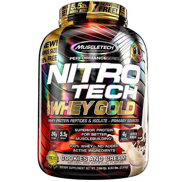 Nitro tech Whey Protein Gold Muscletech 2,5kg Cookies e creme