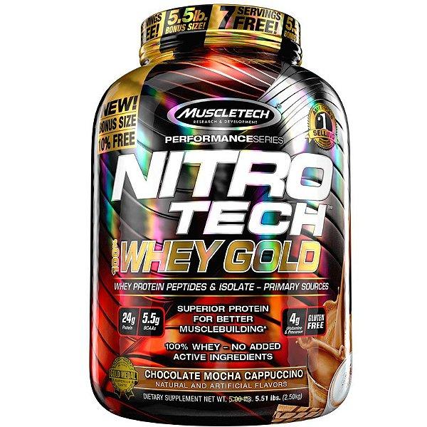 Nitro tech Whey Protein Gold Muscletech 2,5kg chocolate mocha cappucino