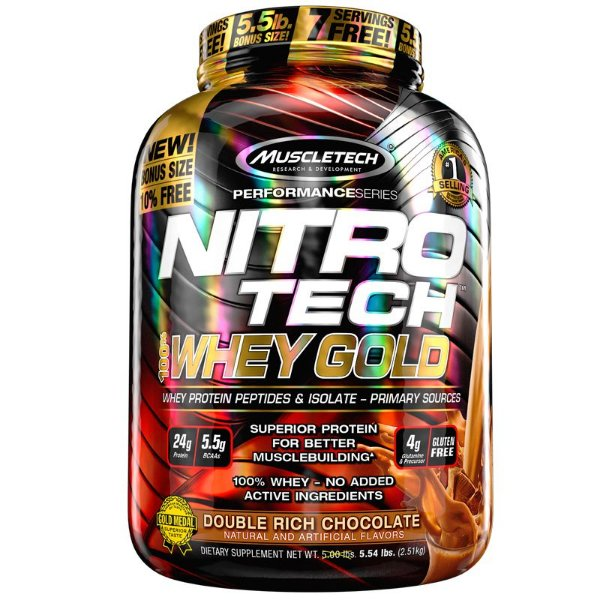 Nitro tech Whey Protein Gold Muscletech 2,5kg Chocolate