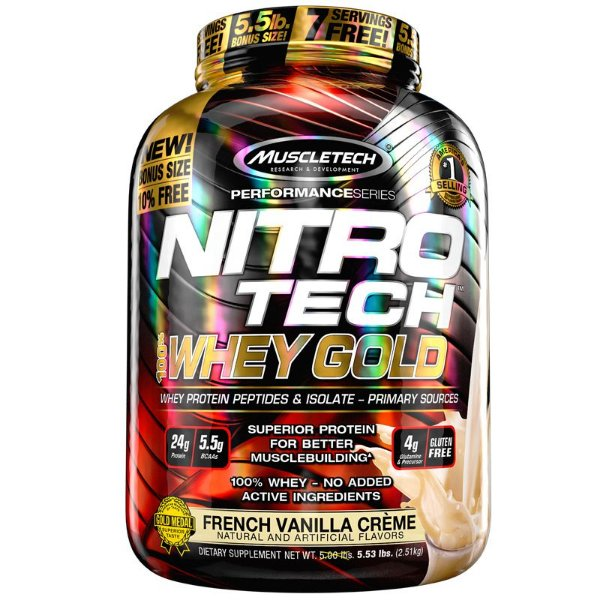 Nitro tech Whey Protein Gold Muscletech 2,5kg Baunilha