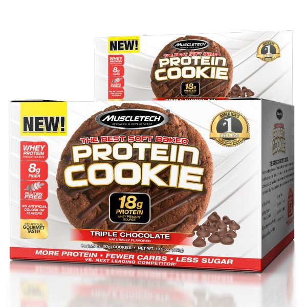 Protein Cookies biscoito proteico Muscletech Triple Chocolate