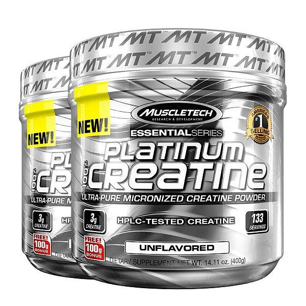 Kit 2 Platinum Creatina 100% pura da Muscletech 400g