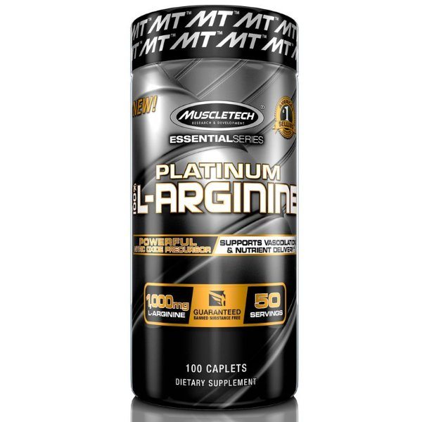 Platinum L-Arginine 100% Arginina 100 tablets Muscletech