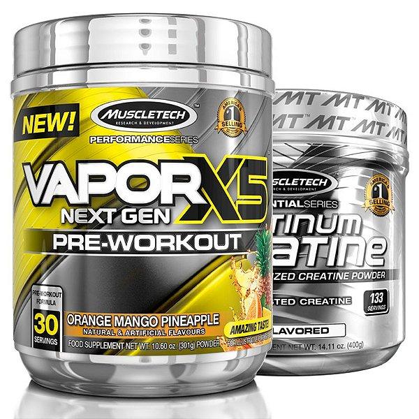 Kit Vapor X5 Frutas e Creatina Platinum da Muscletech