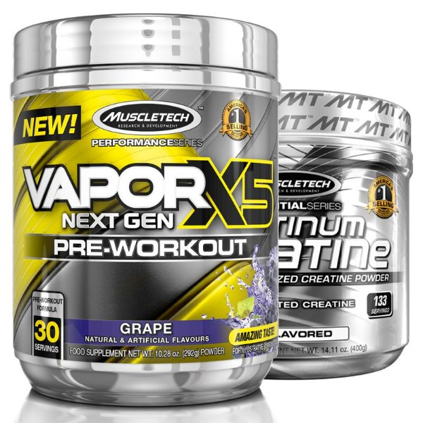 Kit Vapor X5 Uva e Creatina Platinum da Muscletech