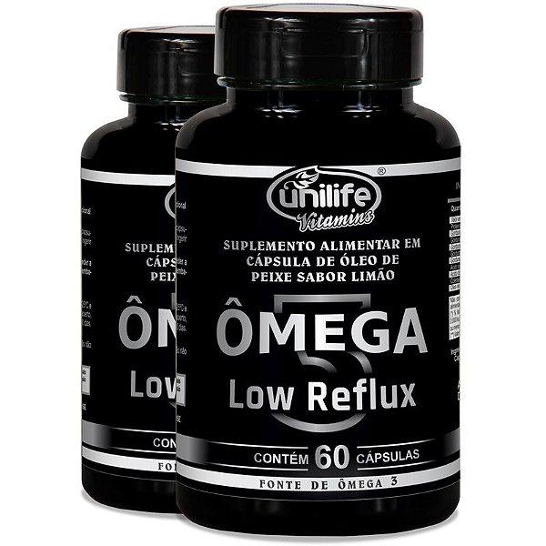 Kit 2 Ômega 3 - Low Reflux - Sabor limão  - 60 cápsulas