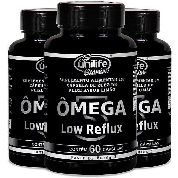 Kit 3 Ômega 3 - Low Reflux - Sabor limão  - 60 cápsulas