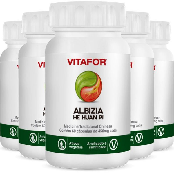 Kit 5 Albizia 450mg 60 Cápsulas MTC Vitafor