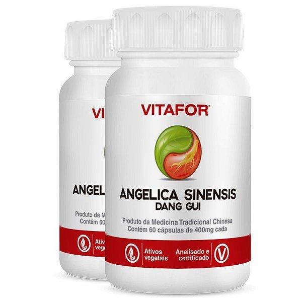 Kit 2 Angelica Sinensis 400mg 60 Cápsulas MTC Vitafor