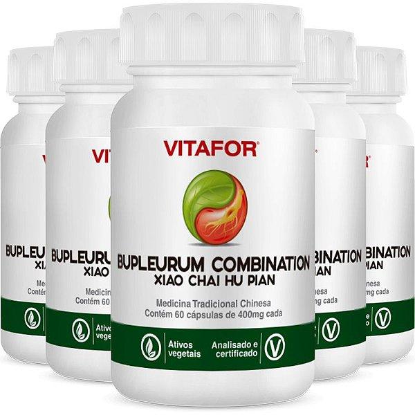 Kit 5 Bupleurum Combin 400mg 60 cápsulas MTC Vitafor