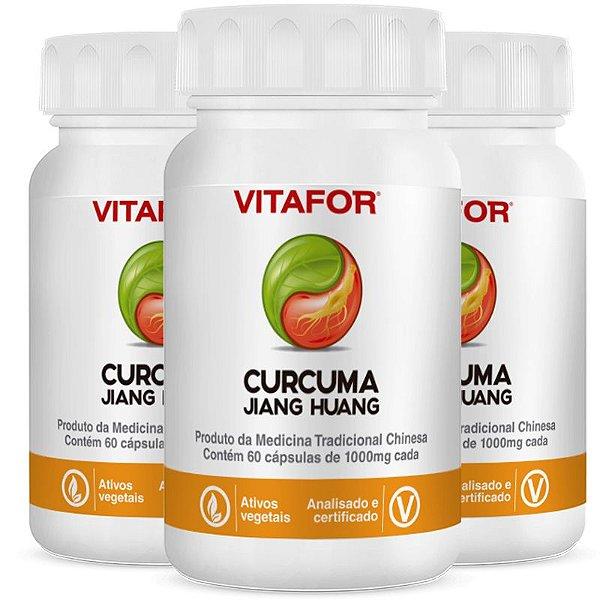 Kit 3 Curcuma 1000mg 60 Softgels 60g MTC Vitafor