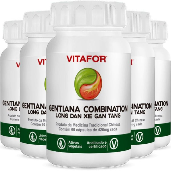 Kit 5 Gentiana combination 420mg 60 Cápsulas MTC Vitafor