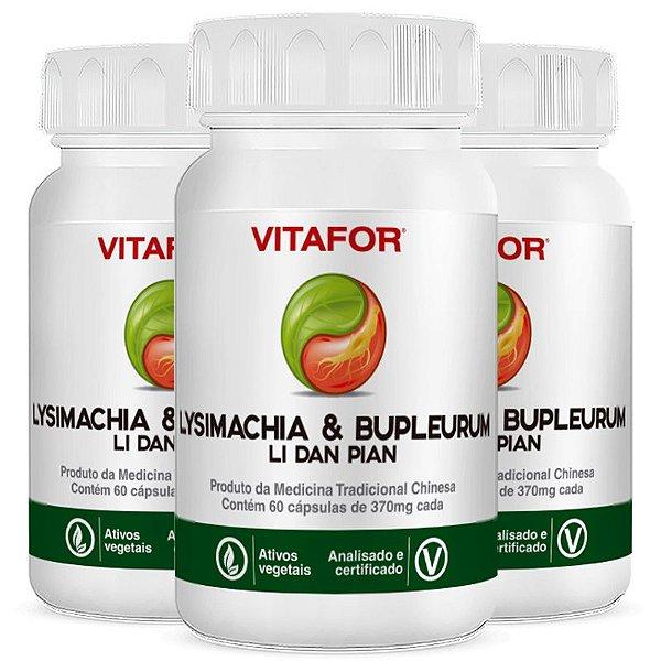 Kit 3 Lysimachia & bupleurum 60 cápsulas 420mg MTC Vitafor