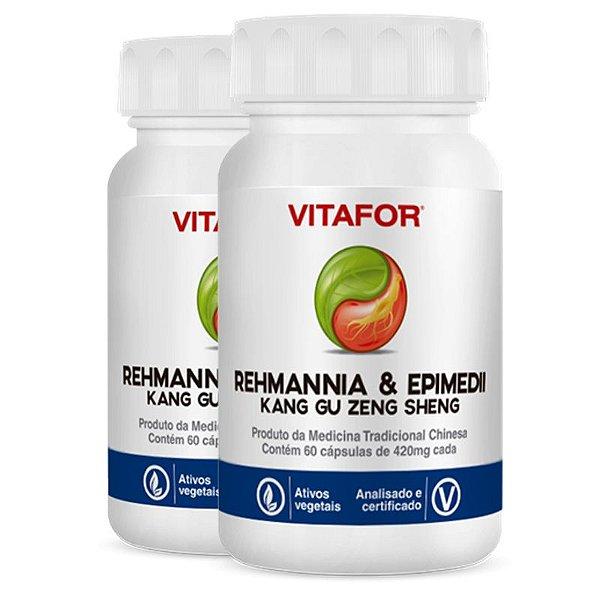 Kit 2 Rehmannia E Epimedii 420Mg 60 Cápsulas MTC Vitafor