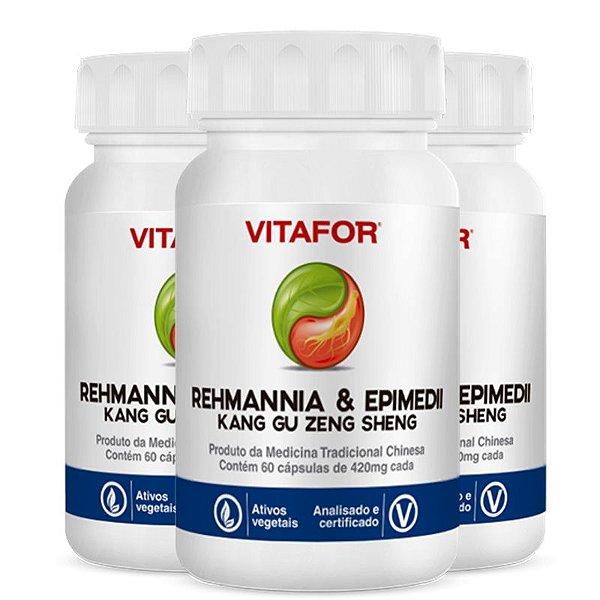 Kit 3 Rehmannia E Epimedii 420Mg 60 Cápsulas MTC Vitafor
