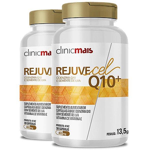 Kit 2 Rejuvecel Q10+ Coenzima Q10 e Semente de Uva ClinicMais 30 cápsulas