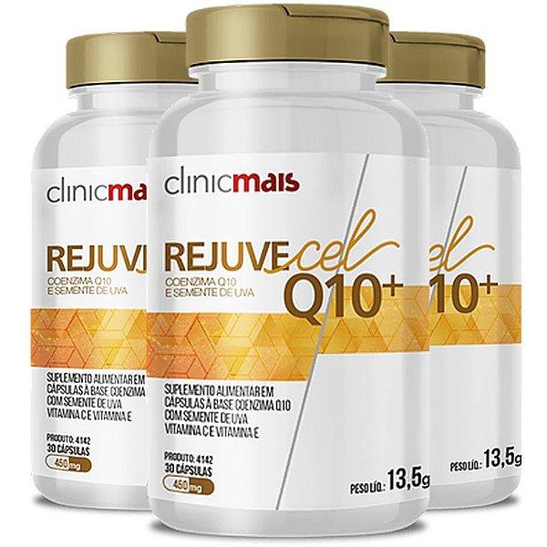 Kit 3 Rejuvecel Q10+ Coenzima Q10 e Semente de Uva ClinicMais 30 cápsulas