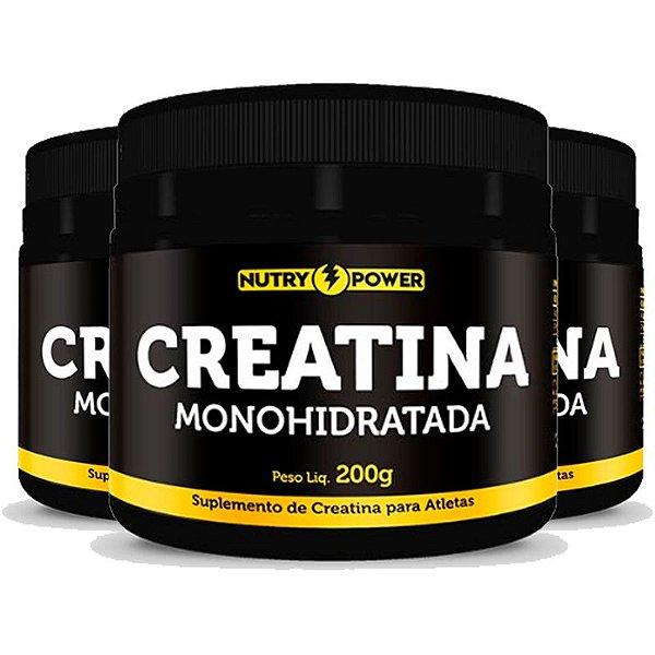 Kit 3 Creatina Monohidratada Apisnutri - Nutry Power 200g