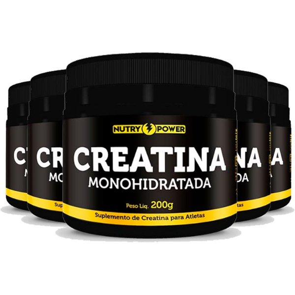 Kit 5 Creatina Monohidratada Apisnutri - Nutry Power 200g