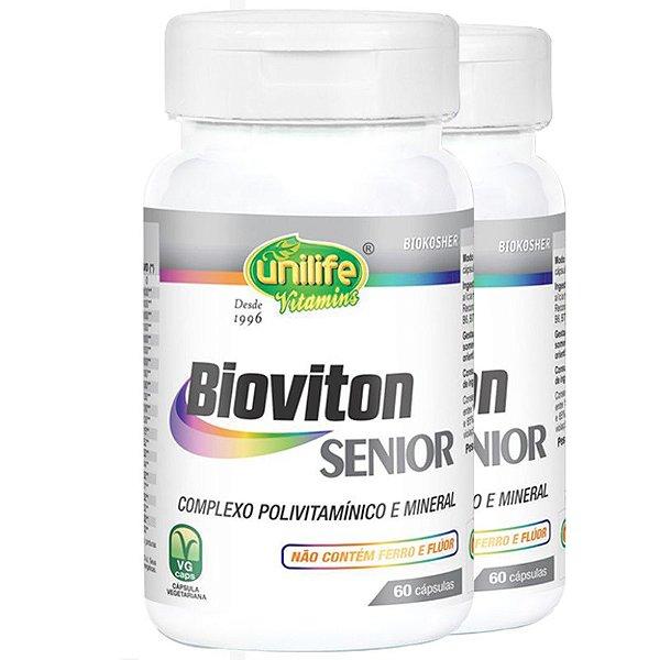 Kit 2 Bioviton SENIOR  Complexo Polivitamínico 60 cápsulas Unilife