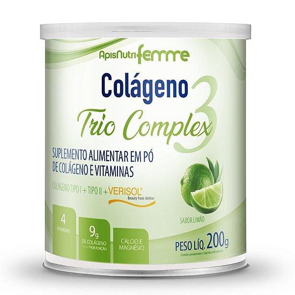 Colágeno tipo 2 + 1 Verisol Trio complex Apisnutri Limão 200g
