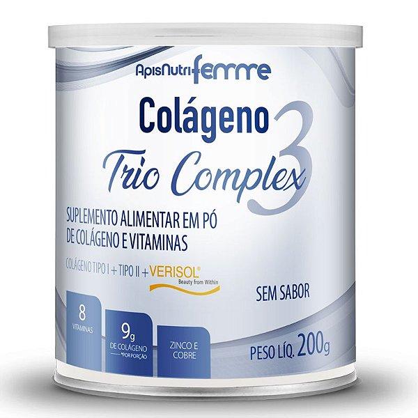 Colágeno tipo 2 + 1 Verisol Trio complex Apisnutri sem sabor 200g