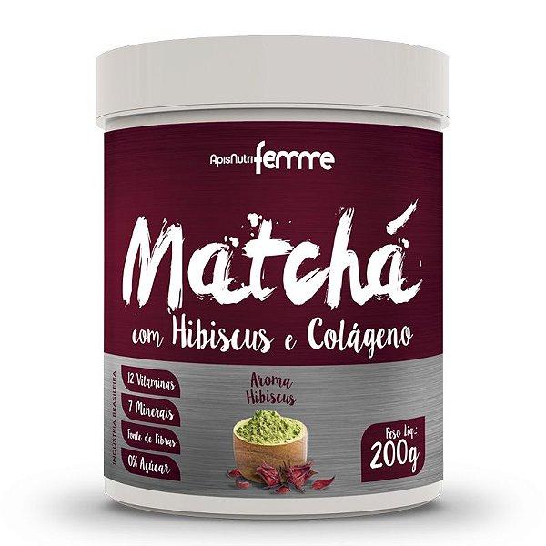 Matchá Solúvel Apisnutri Sabor Hibiscus 200g