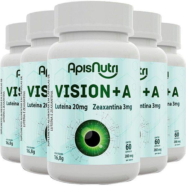 Kit 5 Vision+A Luteína e Zeaxantina 60 cápsulas 280mg Apisnutri