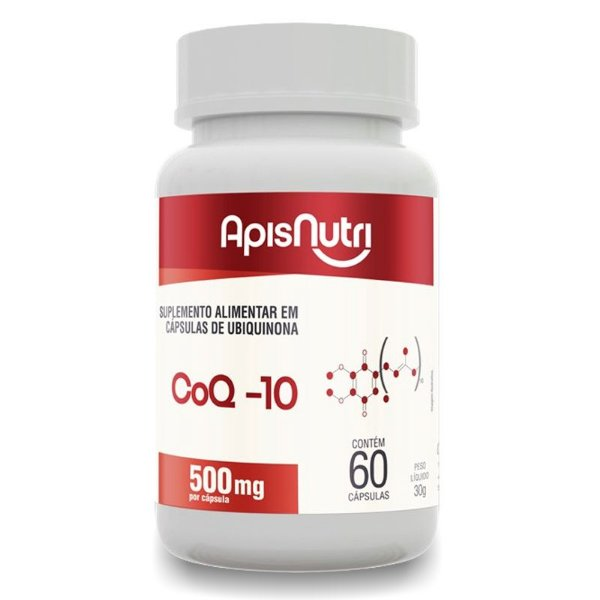Coenzima Q-10 500mg Apisnutri 60 cápsulas