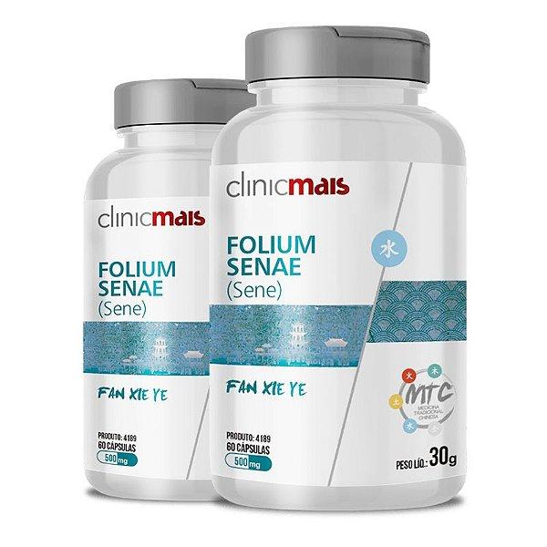 Kit 2 Sene Folium Senae 500mg MTC Clinic Mais 60 cápsulas