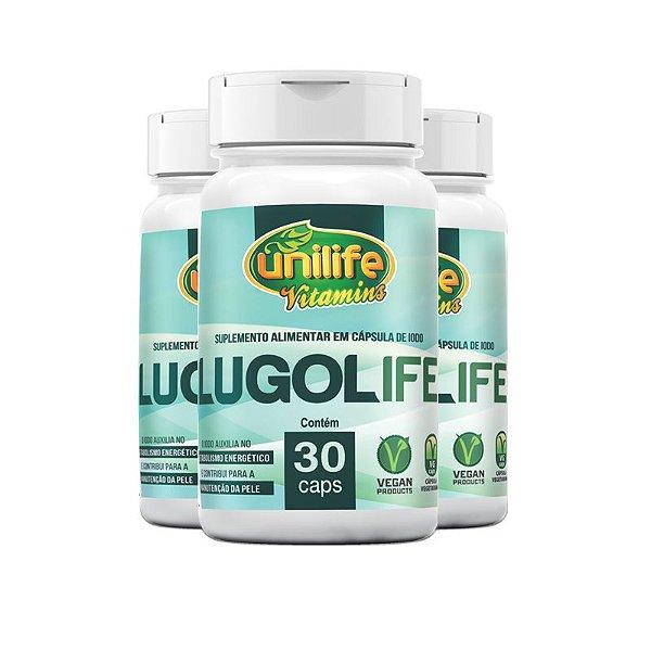 Kit 3 Lugolife Suplemento alimentar de Iodo Unilife 30 cápsulas