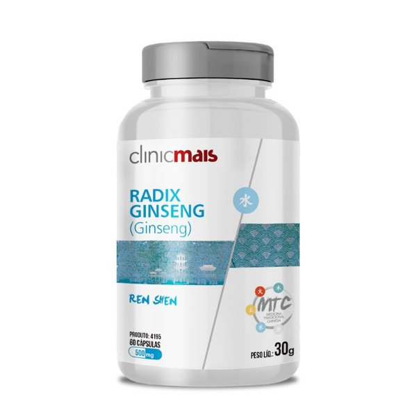 Ginseng Radix Ginseng 500mg MTC Clinic Mais 60 cápsulas