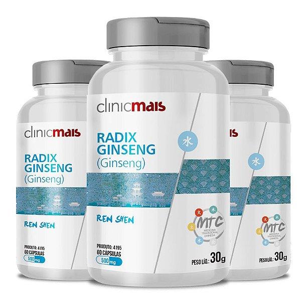 Kit 3 Ginseng Radix Ginseng 500mg MTC Clinic Mais 60 cápsulas