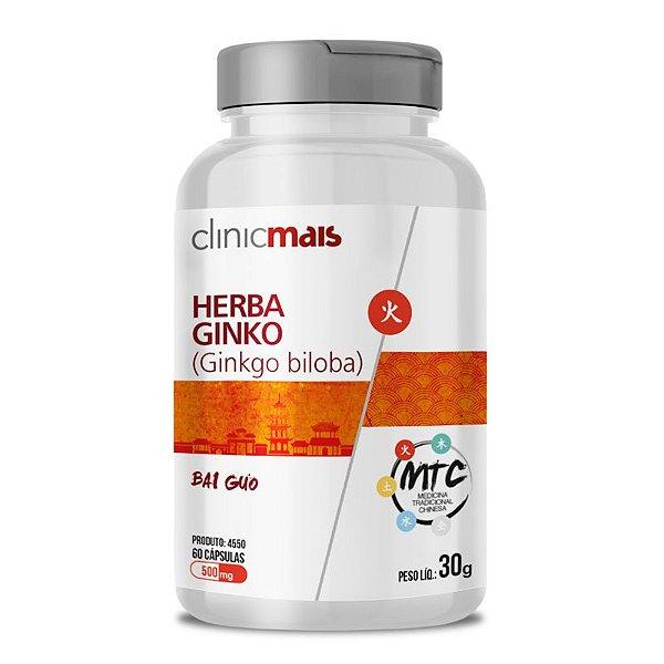 Herba Ginko Ginkgo Biloba 500mg MTC Clinic Mais 60 cápsulas