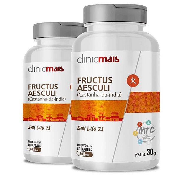 Kit 2 Castanha da Índia Fructus Aesculi 500mg MTC Clinic Mais 60 cápsulas