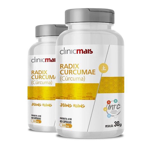 Kit 2 Curcuma Radix Curcumae 500mg MTC Clinic Mais 60 cápsulas