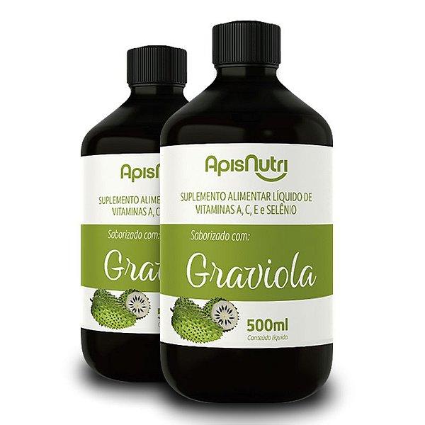 Kit 2 Composto Vitamínico de Graviola 500ml Apisnutri