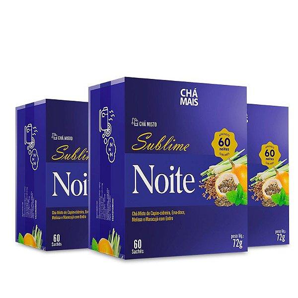 Kit 3 Chá Misto Sublime Noite Chá Mais 60 Sachês