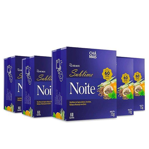 Kit 5 Chá Misto Sublime Noite Chá Mais 60 Sachês