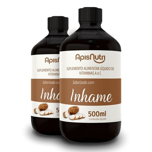 Kit 2 Elixir de Inhame Vitamínico 500ml Apisnutri