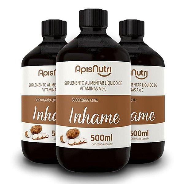 Kit 3 Elixir de Inhame Vitamínico 500ml Apisnutri