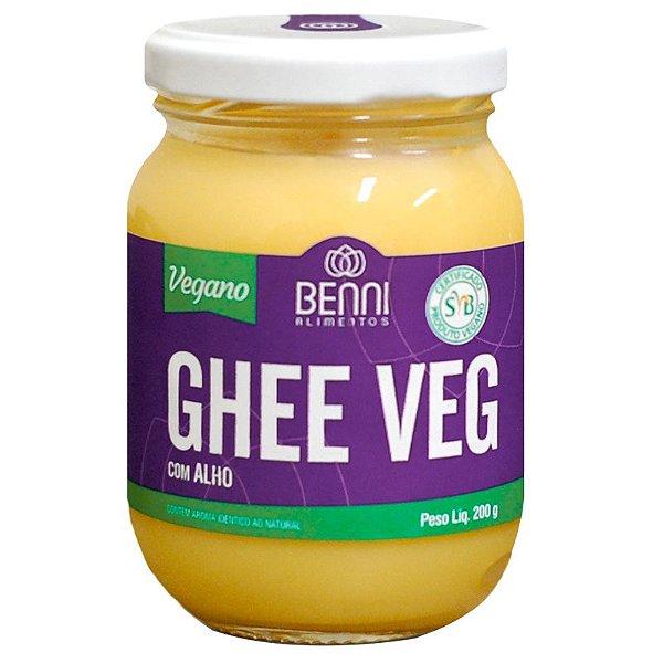 Manteiga Ghee Vegano Benni 220g Alho