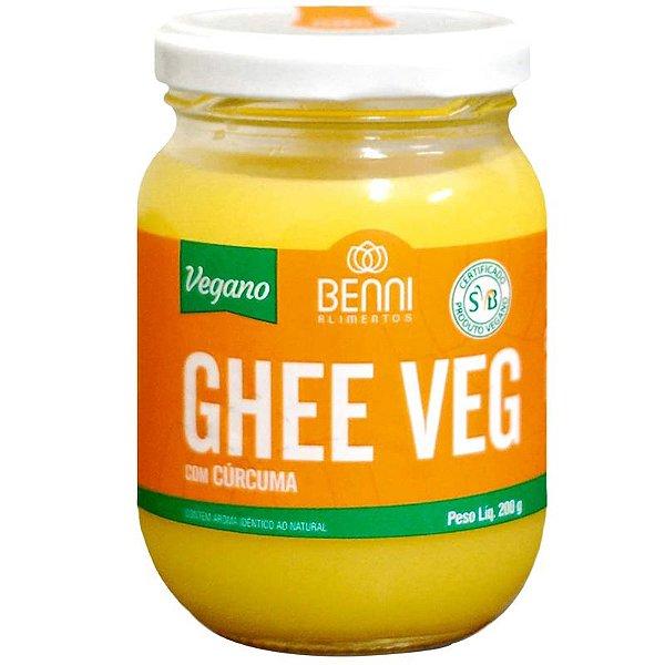 Manteiga Ghee Vegano Benni 200g Cúrcuma