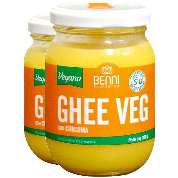 Kit 2 Manteiga Ghee Vegano Benni 220g Cúrcuma