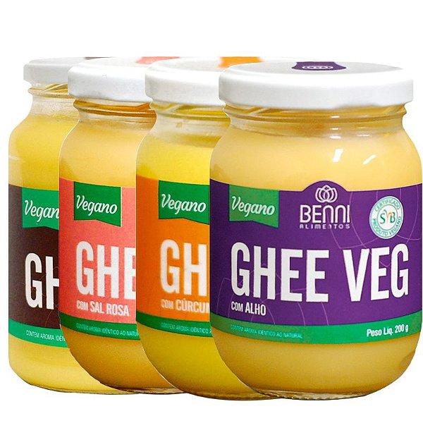 Kit 4 Manteiga Ghee Vegano diversas Benni