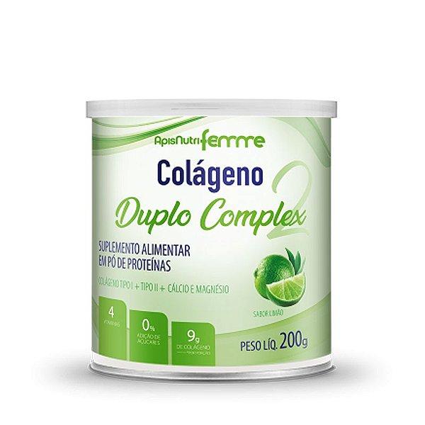 Colágeno Duplo Complex Tipo 2 + Tipo 1 Apisnutri 200g Limão