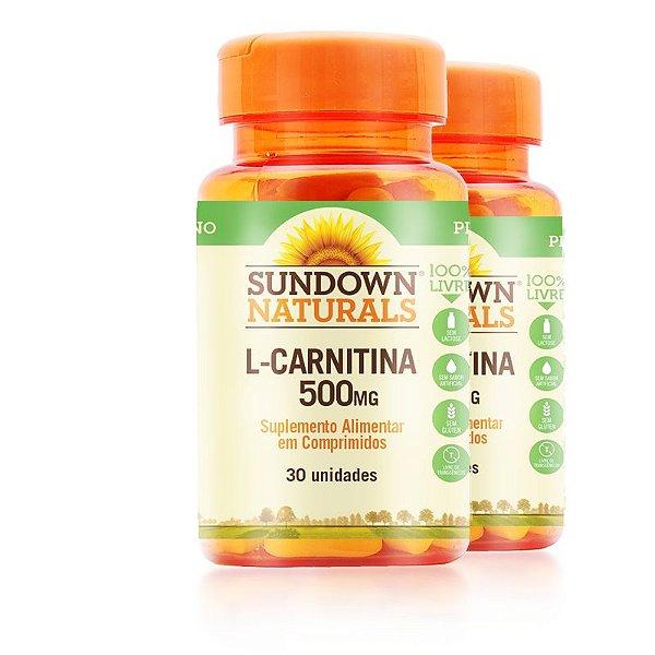 Kit 2 L- Carnitina 500MG Sundown Naturals 30 comprimidos