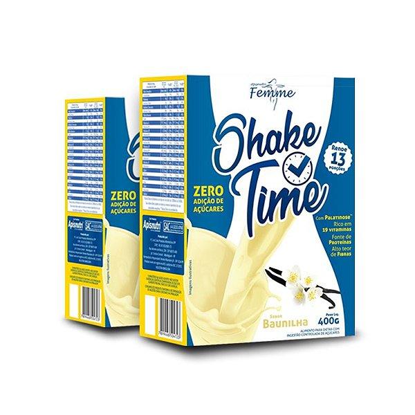 Kit 2 Shake Time Substituto de Refeição Apisnutri 400g Baunilha